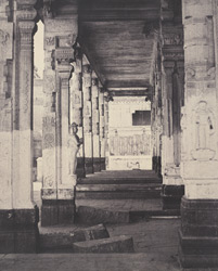 The Great Pagoda. Side colonnade in the Muroothappa sarvacar Mundapam [Minakshi Sundareshvara Temple, Madurai]